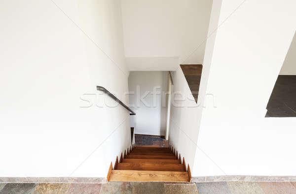 Stok fotoğraf: Iç · rustik · ev · ev · dik · merdiven