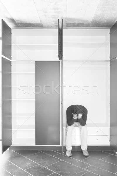 フロント 表示 男 クローゼット 位置 ルーム ストックフォト © alexandre_zveiger