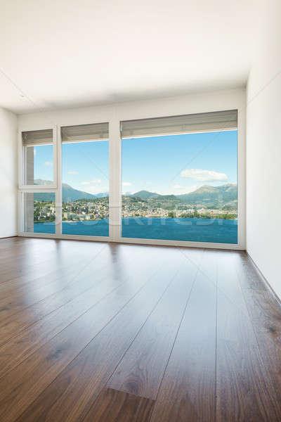 Mooie kamer moderne huis lege kamer venster Stockfoto © alexandre_zveiger