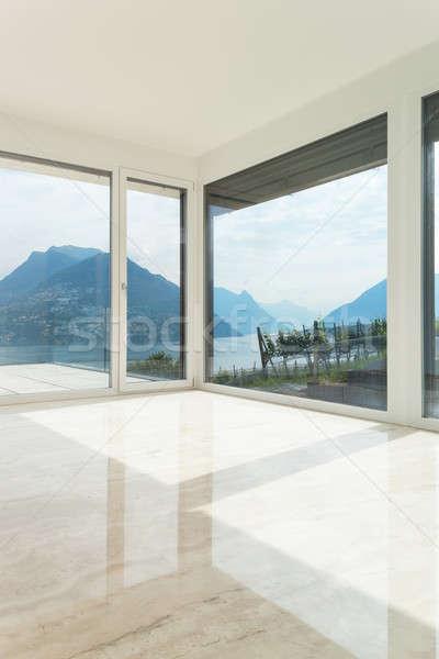 Mooie penthouse lege woonkamer interieur moderne Stockfoto © alexandre_zveiger