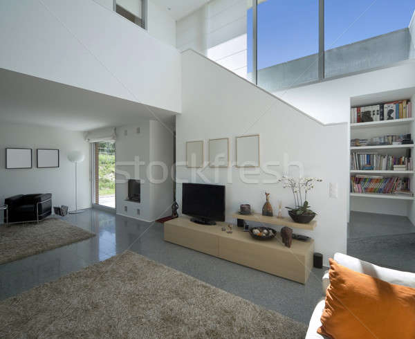 Lusso villa interni soggiorno nuovo interior design Foto d'archivio © alexandre_zveiger
