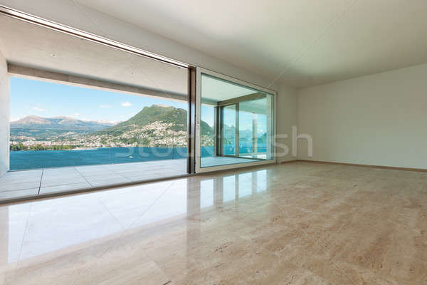 интерьер пустой комнате Windows современных дома окна Сток-фото © alexandre_zveiger
