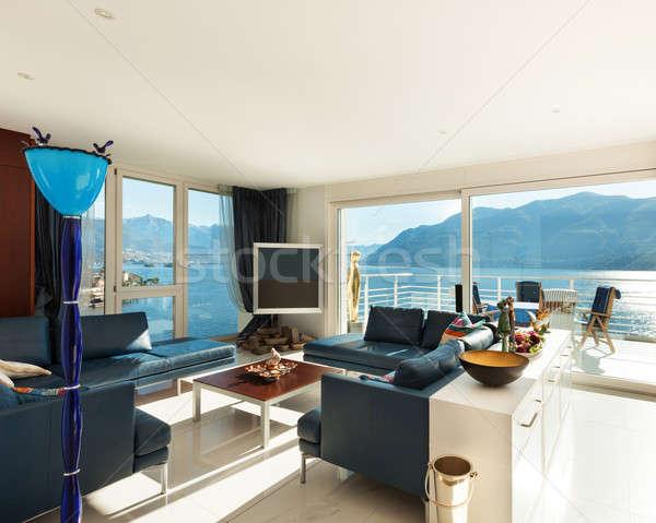 Interior, modern apartment Stock photo © alexandre_zveiger
