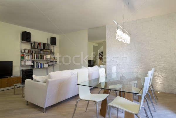 Nuevos apartamento diseno interior salón casa Foto stock © alexandre_zveiger