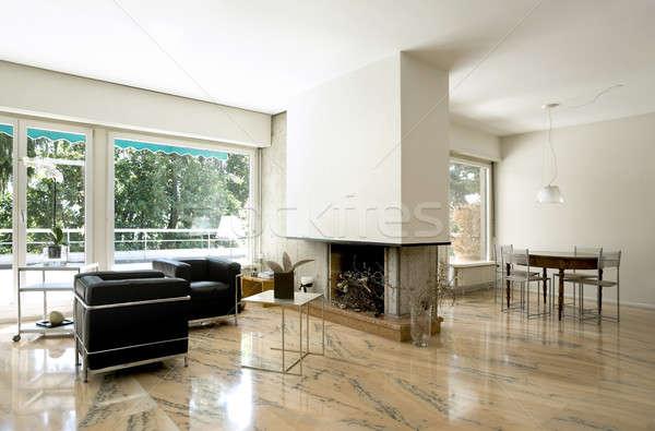 Arquitetura moderno casa interior casa sala de estar Foto stock © alexandre_zveiger
