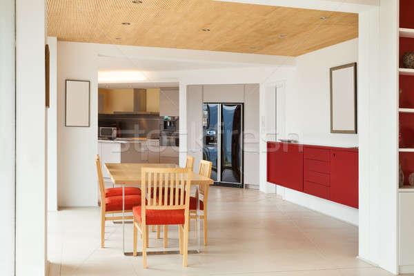 nterior, dining room, kitchen view Stock photo © alexandre_zveiger