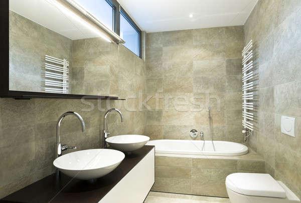 Design maison intérieur modernes salle de bain Photo stock © alexandre_zveiger