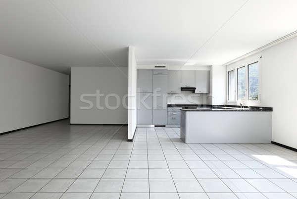 современный дома кухне полуостров интерьер современных Сток-фото © alexandre_zveiger