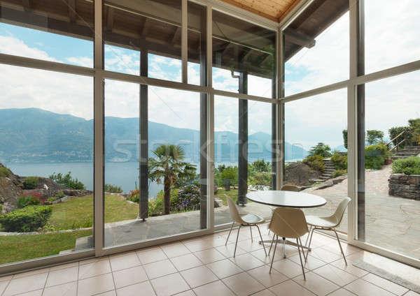 Arquitetura moderna interior montanha casa casa jardim Foto stock © alexandre_zveiger
