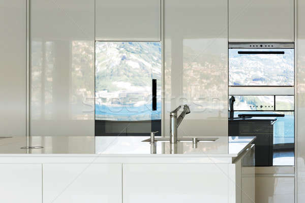 現代 国内の キッチン 美しい 家 表示 ストックフォト © alexandre_zveiger