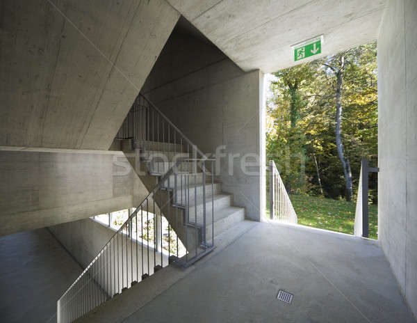 New interior beton corridor Stock photo © alexandre_zveiger