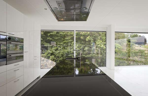 キッチンのインテリア 現代 キッチン 家 ホーム スペース ストックフォト © alexandre_zveiger