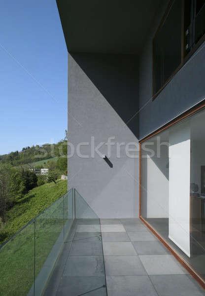 внешний балкона современный стиль Villa современных дома Сток-фото © alexandre_zveiger