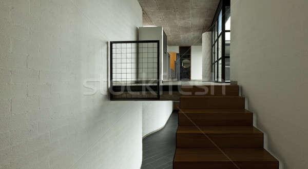 Interieur nieuwe moderne huis niet villa Stockfoto © alexandre_zveiger