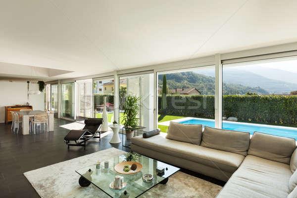 Interior moderna casa Villa hermosa salón Foto stock © alexandre_zveiger