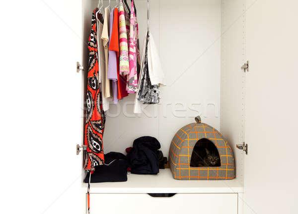 interior of wardrobe Stock photo © alexandre_zveiger
