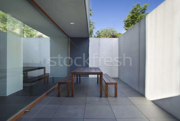Balcón estilo moderno Villa moderna casa Foto stock © alexandre_zveiger