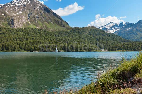 山 湖 風景 スイス 風景 水 ストックフォト © alexandre_zveiger