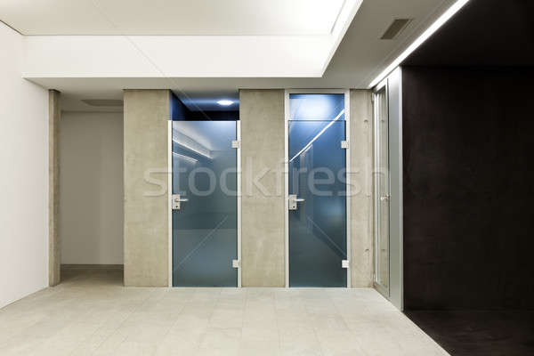modern house, glass doors Stock photo © alexandre_zveiger