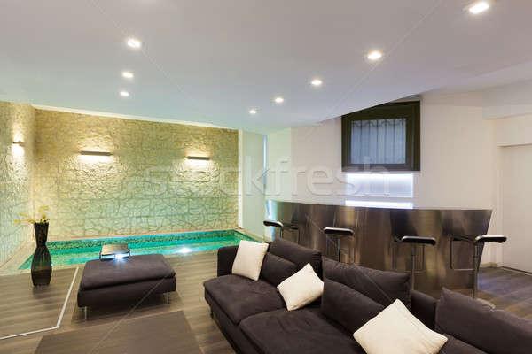 Interior, wide living room Stock photo © alexandre_zveiger