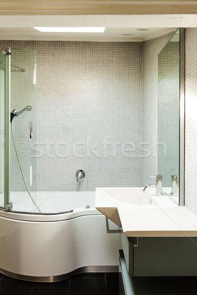 Intérieur rustique maison modernes salle de bain vieux Photo stock © alexandre_zveiger