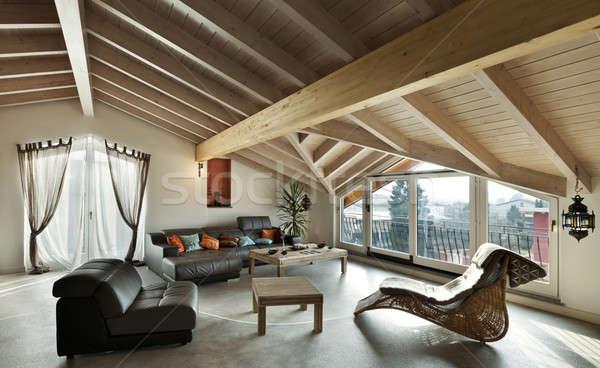 Interior nuevos étnicas muebles salón Foto stock © alexandre_zveiger