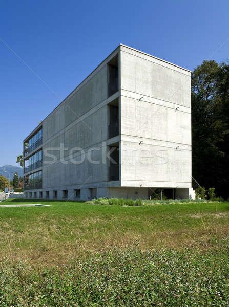 Modern bina görmek bahçe dizayn ev bahar Stok fotoğraf © alexandre_zveiger