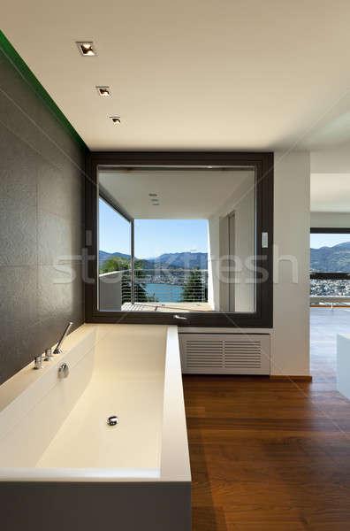 Nieuwe interieur appartement moderne bad panoramisch Stockfoto © alexandre_zveiger