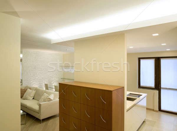 Stockfoto: Moderne · architectuur · nieuwe · appartement · interieur · huis · home