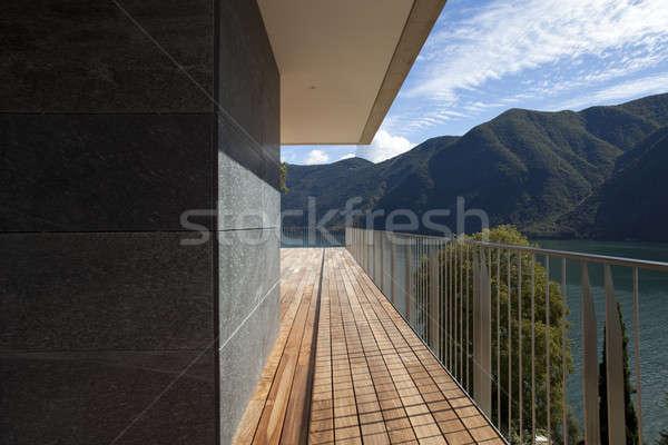 Moderno casa belo penthouse lago ver Foto stock © alexandre_zveiger