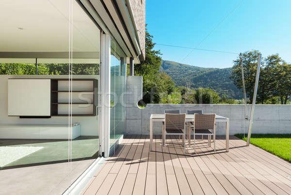 Architectuur moderne huis outdoor gebouw Stockfoto © alexandre_zveiger