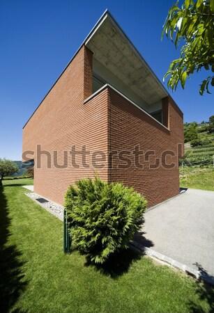 Ladrillo casa vista jardín grande moderna Foto stock © alexandre_zveiger