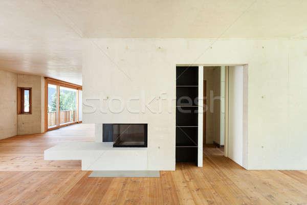 新しい アパート インテリア 具体的な 壁 セメント ストックフォト © alexandre_zveiger