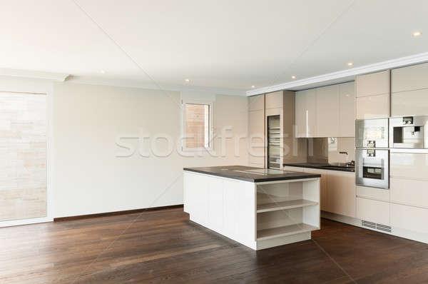 Stockfoto: Mooie · huis · moderne · keuken · penthouse