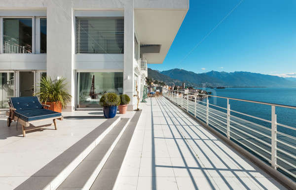 Beautiful penthouse, terrace Stock photo © alexandre_zveiger
