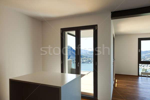 Nieuwe interieur appartement moderne groot kamer Stockfoto © alexandre_zveiger