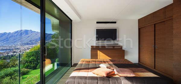 Stock photo: House interior, bedroom