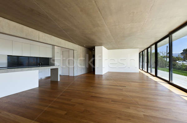 Moderno casa interior concreto casa piso de for Casa minimalista grande
