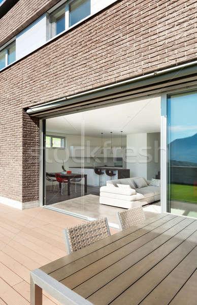 Architecture, modern house, outdoor Stock photo © alexandre_zveiger