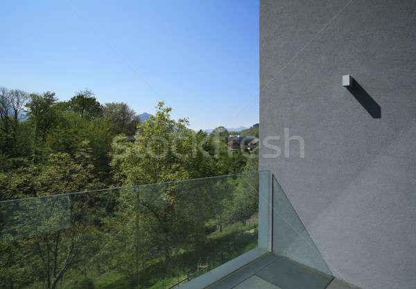 Esterno balcone stile moderno villa moderno casa Foto d'archivio © alexandre_zveiger