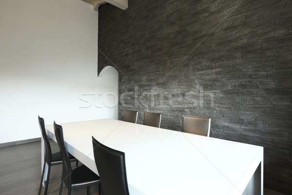 Moderne appartement woonkamer woonkamer vliering home Stockfoto © alexandre_zveiger