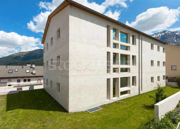 Hegy ház külső társasház szabadtér épület építkezés Stock fotó © alexandre_zveiger