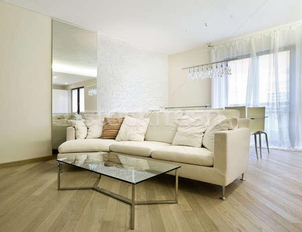 Arquitetura moderna novo apartamento design de interiores sala de estar casa Foto stock © alexandre_zveiger