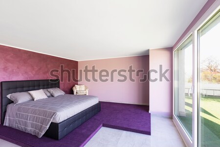 Modern bedroom in the attic Stock photo © alexandre_zveiger