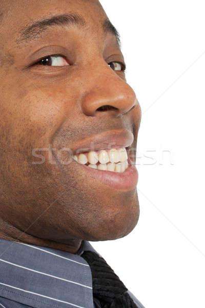 クローズアップ アフリカ 男 幸せ 男性 口 ストックフォト © alexandre_zveiger