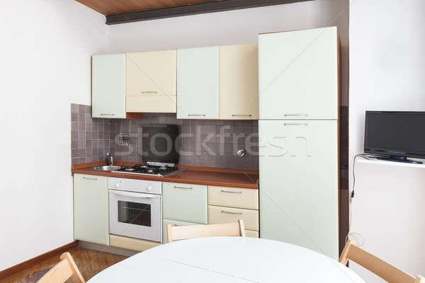 Stockfoto: Interieur · home · mooie · huiselijk · keuken