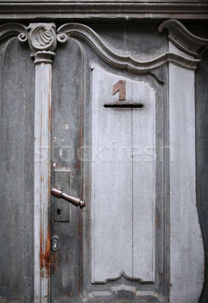 rust handle texture of the door Stock photo © alexandre_zveiger