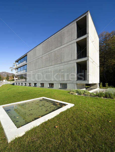 Modern building with pool, view from the garden Stock photo © alexandre_zveiger