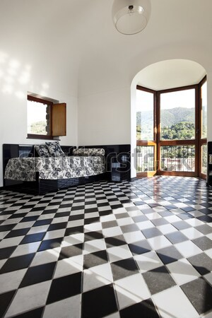 chessboard floor interior with amazing view of the seaside from  Stock photo © alexandre_zveiger