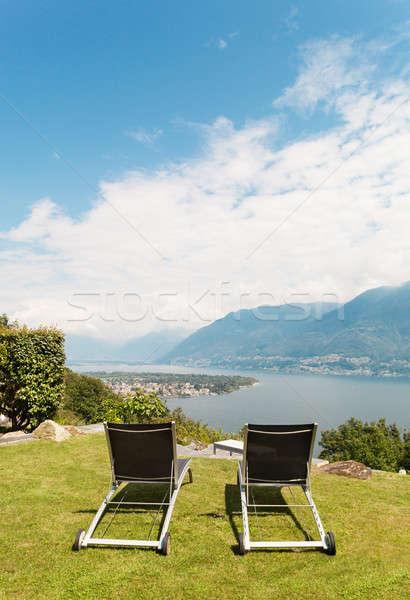 two sun lounger Stock photo © alexandre_zveiger